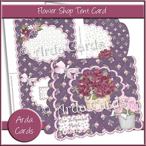 Flower Shop Tent Card - The Printable Craft Shop