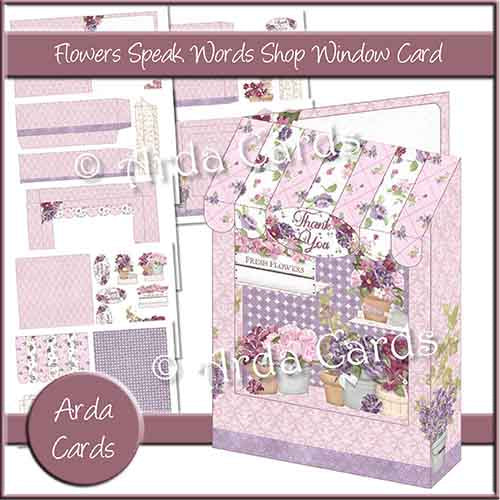 Flowers Speak Words Shop Window Card