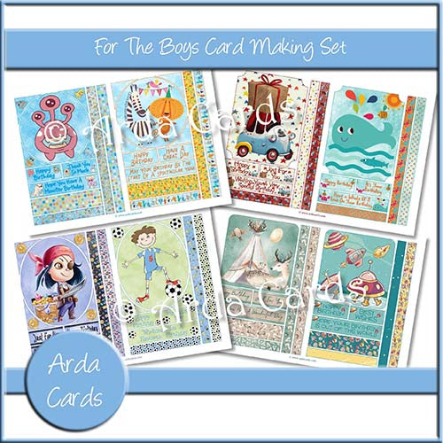 For The Boys Card Making Set