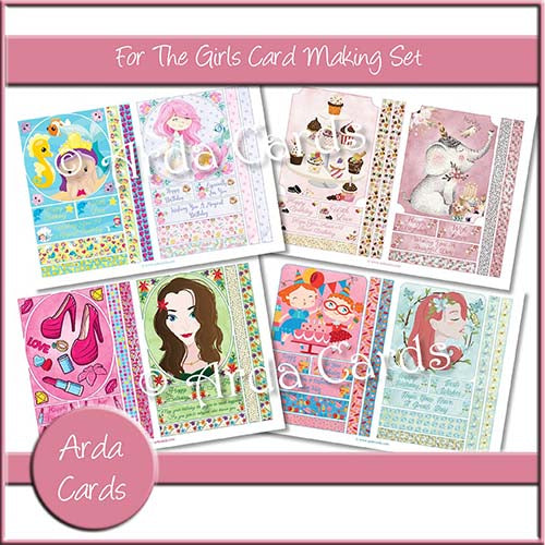 For The Girls Card Making Set