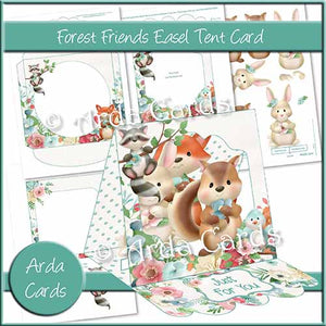 Forest Friends Easel Tent Card