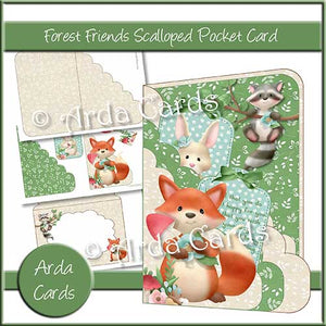 Forest Friends Scalloped Pocket Card