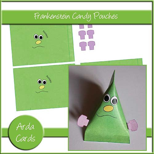 Frankenstein Candy Pouches - The Printable Craft Shop