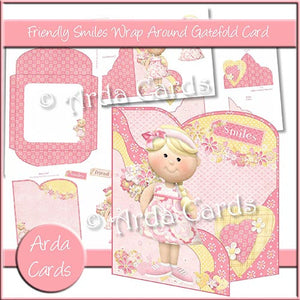 Friendly Smiles Wrap Around Gatefold Card - The Printable Craft Shop