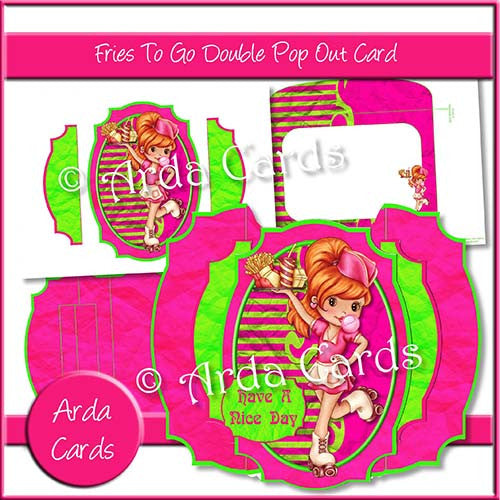 Fries To Go  Double Pop Out Card - The Printable Craft Shop