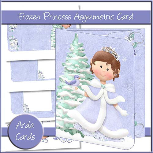 Frozen Princess Asymmetric Card - The Printable Craft Shop