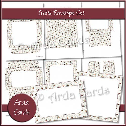 Fruits Envelope Set - The Printable Craft Shop