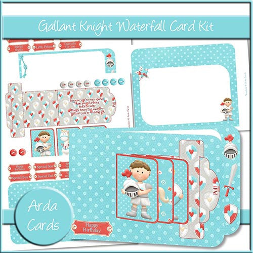 Gallant Knight Waterfall Card Kit - The Printable Craft Shop