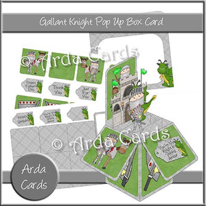 Gallant Knight Pop Up Box Card - The Printable Craft Shop