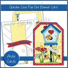 Load image into Gallery viewer, Garden Love Printable Pop Out Banner Card - The Printable Craft Shop