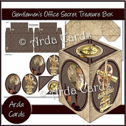 Gentleman's Office Secret Treasure Box