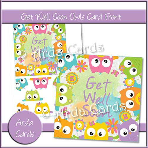 Get Well Soon Owls Card Front