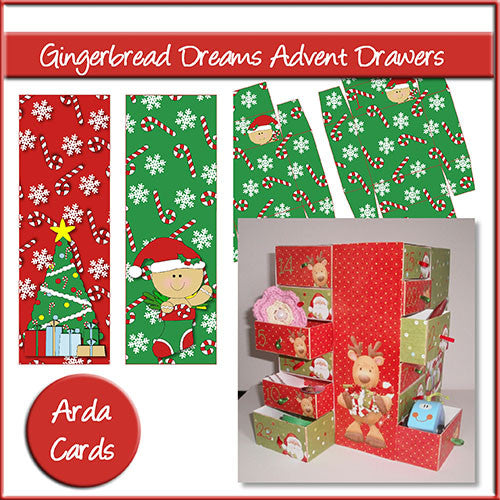 Gingerbread Dreams Advent Calendar Drawers - The Printable Craft Shop