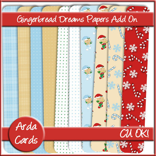 Gingerbread Dreams CU Papers Add On - The Printable Craft Shop