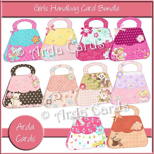 Girls Handbag Card Bundle - The Printable Craft Shop