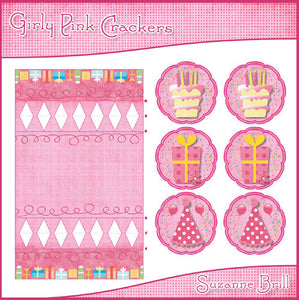 Girly Pink Crackers - The Printable Craft Shop