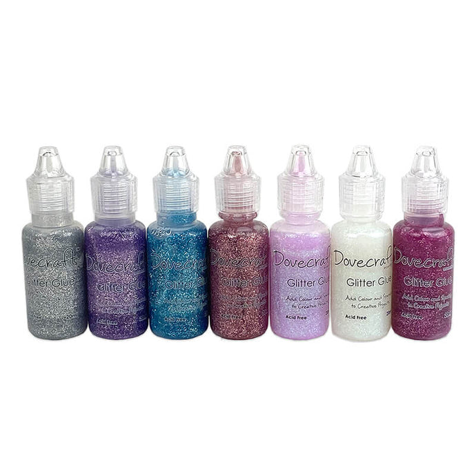 Pastel Glitter Glues - Dovecraft 20ml