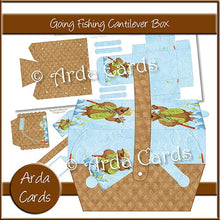 Load image into Gallery viewer, Going Fishing Cantilever Box - The Printable Craft Shop