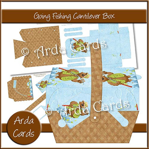 Going Fishing Cantilever Box - The Printable Craft Shop