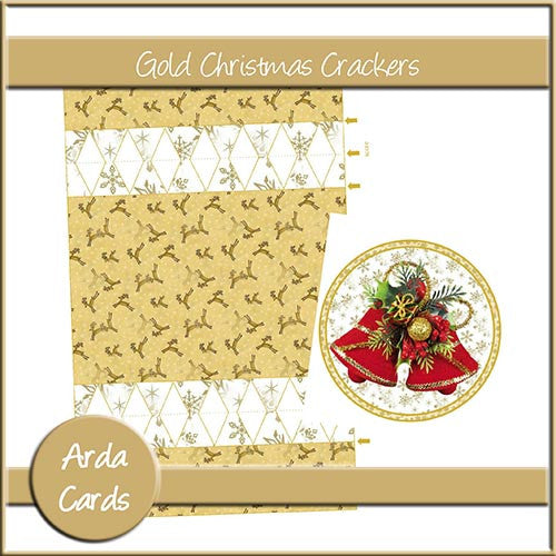 Gold Christmas Crackers - The Printable Craft Shop