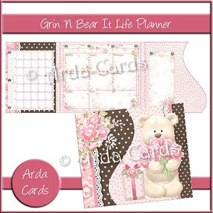 Grin & Bear It Printable Life Planner - The Printable Craft Shop
