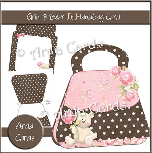 Grin & Bear It Handbag Card - The Printable Craft Shop