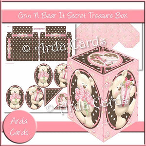 Grin N Bear It Secret Treasure Box - The Printable Craft Shop