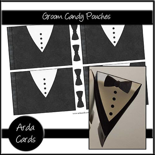 Groom Candy Pouches - The Printable Craft Shop