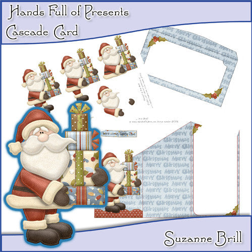 Hands Full Of Presents Cascade Card - The Printable Craft Shop