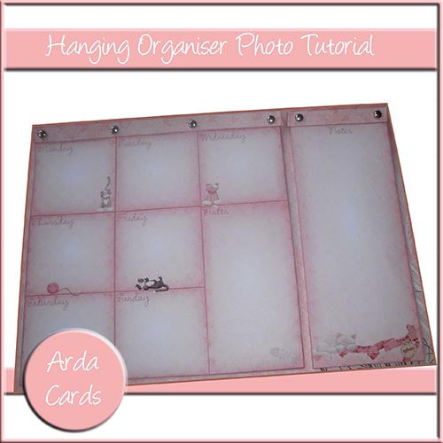 Hanging Organiser Photo Tutorial - The Printable Craft Shop