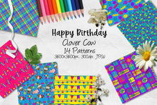 Load image into Gallery viewer, Happy Birthday Clover Cow CU Paper