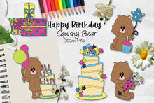 Load image into Gallery viewer, Happy Birthday Squishy Bear CU Clipart