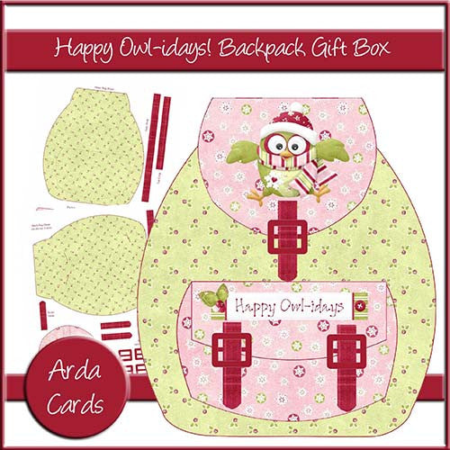Happy Owl-idays Backpack Gift Box - The Printable Craft Shop