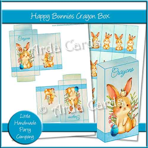 Happy Bunnies Crayon Box