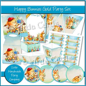 Happy Bunnies Gold Party Set