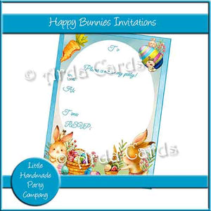 Happy Bunnies Invitations