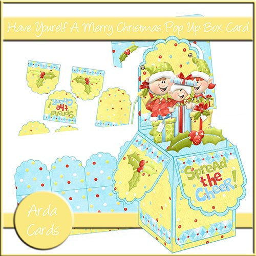 Have Your Elf A Merry Christmas Pop Up Box Card - The Printable Craft Shop