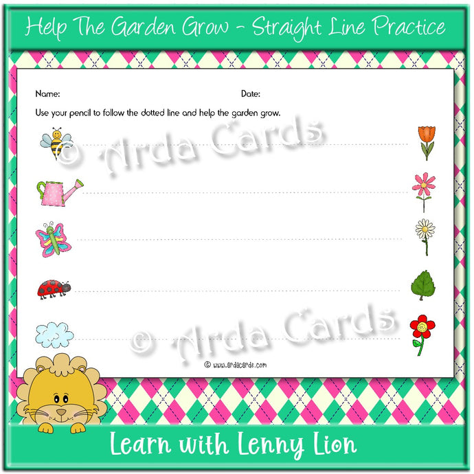 Help The Garden Grow Straight Line Practice