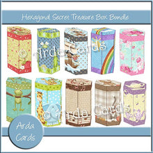 Load image into Gallery viewer, Hexagonal Secret Treasure Box Bundle - The Printable Craft Shop