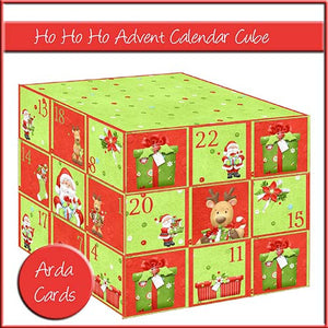 Ho Ho Ho Advent Calendar Cube - The Printable Craft Shop