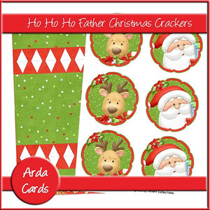 Ho Ho Ho Father Christmas Crackers - The Printable Craft Shop