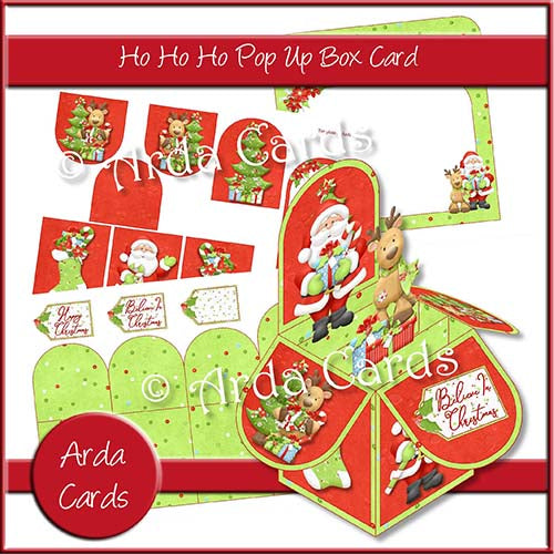 Ho Ho Ho Pop Up Box Card