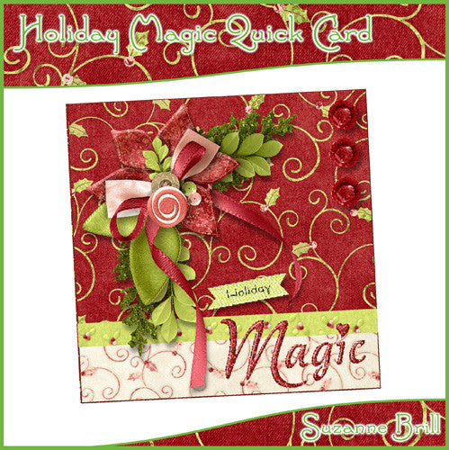 Holiday Magic Quick Card - The Printable Craft Shop