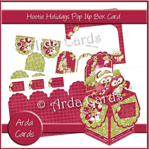 Hootie Holidays Pop Up Box Card - The Printable Craft Shop