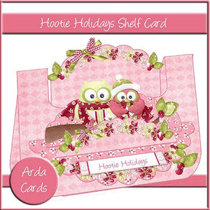Hootie Holidays Shelf Card - The Printable Craft Shop
