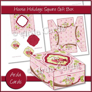 Hootie Holidays Square Gift Box