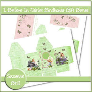 I Believe In Fairies Birdhouse Gift Boxes - The Printable Craft Shop
