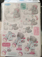 Load image into Gallery viewer, Me to You Winter Wonderland A4 Glittered Decoupage Pack Winter Friends