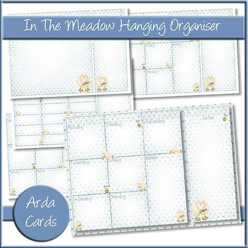 In The Meadow Hanging Organiser - The Printable Craft Shop