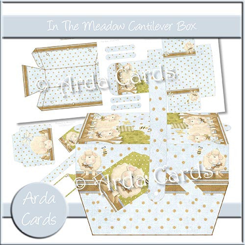 In The Meadow Cantilever Box - The Printable Craft Shop